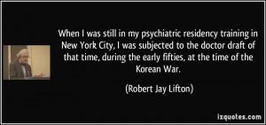 When I was still in my psychiatric residency training in New York City ...
