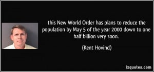 this New World Order has plans to reduce the population by May 5 of ...