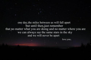 1240-miles-of-love:One day, the miles between us will fall apart but ...