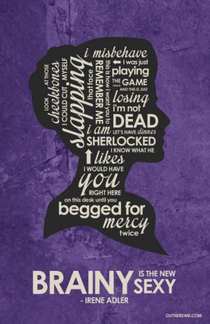 BBC Sherlock - Irene Adler Quote Poster www.outnerdme.com