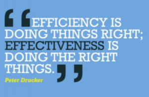 Quotes + Thoughts | Drucker on efficiency and effectiveness