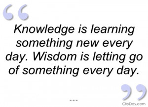 knowledge is learning something new every
