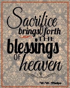 Sacrifice Brings Forth the Blessings of Heaven - Christian religious ...