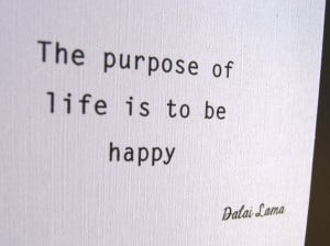 Textured Note Card Happy Dalai Lama quote by LittleWhiteMouse, $3.00 # ...