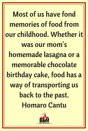 Food Quote | B&M Catering