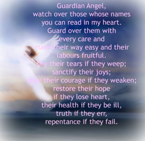 Guardian Angel Prayer...