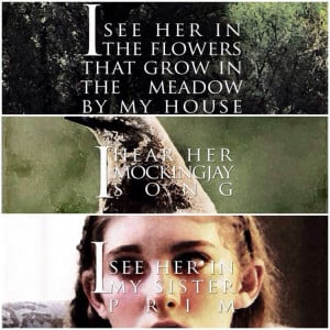Hunger Games Quote / Catching Fire / Katniss / Rue