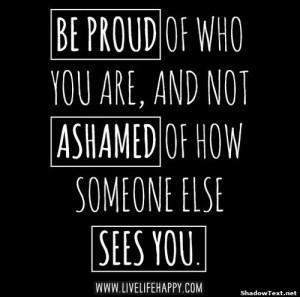 don t let others shame you