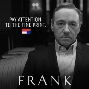 With many people wrapping up the second season of House of Cards on ...