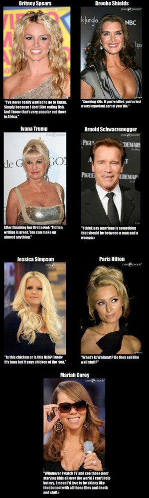 Celebrities with stupid quotes