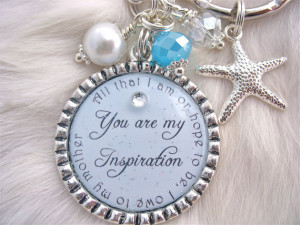the BRIDE Gift Mother of Groom PERSONALIZED Keychain Beautiful quote ...