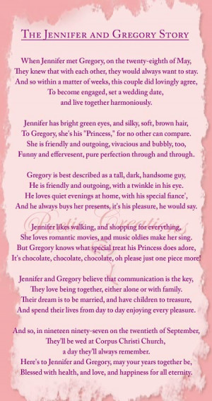 Engagement Sayings Poems Relevant personalized poem