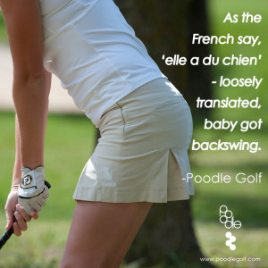 The 'Poodleskirt' in Sand. #quotes #golf