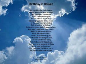 happy birthday in heaven images   Happy Birthday Today Your...