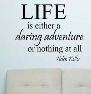 Vinyl Wall Lettering Quotes Life is a Daring by WallsThatTalk, $13.00