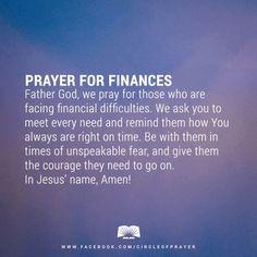 financial prayers
