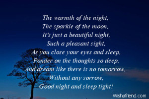 Romantic Good Night Poems