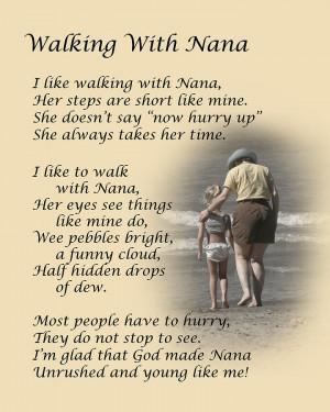 Walking With Nana Photograph