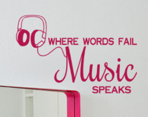 ... Fail Music Speaks, DJ, Disc Jockey, Musical quotes, Large Wall Decals