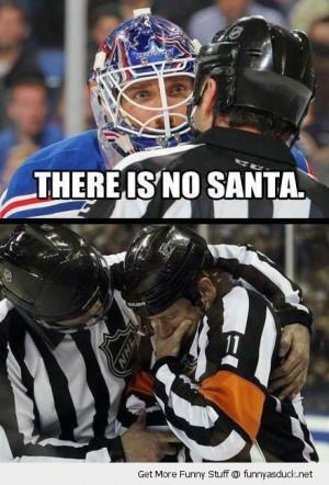 ice hockey player talking ref referee no santa man crying sport funny ...