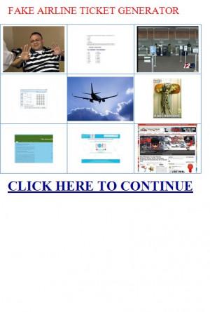 Plane ticket quotes quotesgram for Fake concert ticket generator