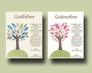 Popular items for godparents print