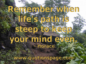 adore this quote from horace