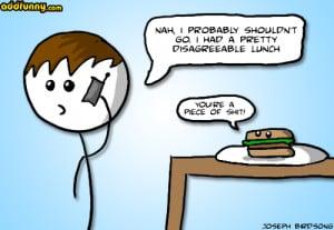 disagreeable lunch random