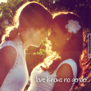 Love Knows No Gender Lesbian Quote Picture