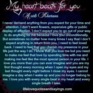 My Heart Beats For You. - Love Quotes And Sayings