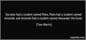 named Plato, Plato had a student named Aristotle, and Aristotle ...