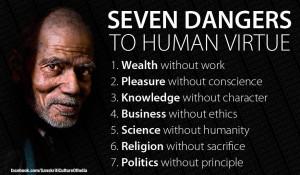 Gandhi's 7 Social Sins | Tavern Keepers