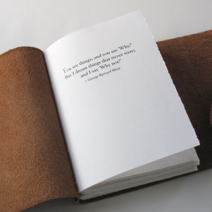 ... this Writer's Inspiration Journal, with a quote by Ernest Hemingway