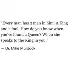 """Mike Murdock """"The King and the Queen"""" Quote More"""