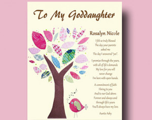 Goddaughter Personalized gift for Goddaughter Gift from Godmother