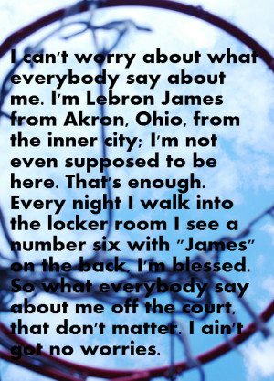 Lebron James on Haters and Critics