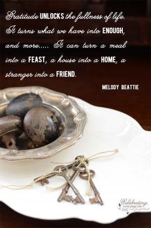 the fullness of life quote, Melody Beattie quote, Gratitude quote ...