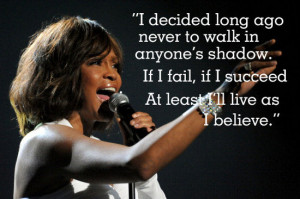 Whitney Houston Inspiring Quote