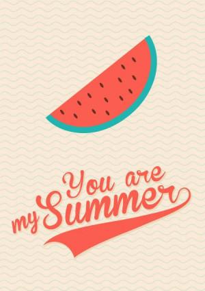 Watermelon - Retro Poster