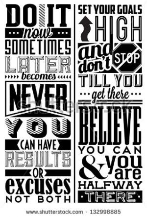 Motivational Clip Art Retro vintage motivational