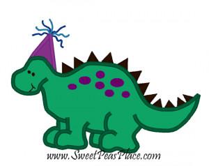 Birthday Dinosaur Applique...