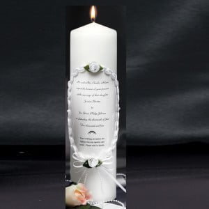 wedding invitation candles monogrammed candles wedding party candle ...