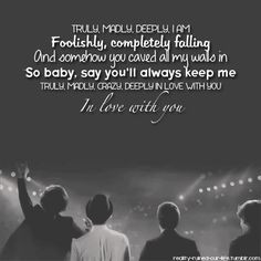 madly crazy deeply in love with you favorit song 1d song 1d lyric ...