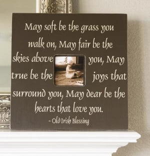 Irish Blessing Fancy Frame Photo Memory Quote Wedding or Anniversary