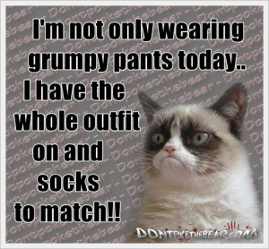 not only wearing grumpy pants today..I have the whole outfit on ...