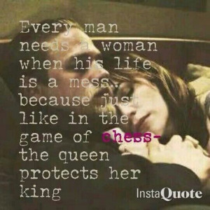 The Queen protects her King...