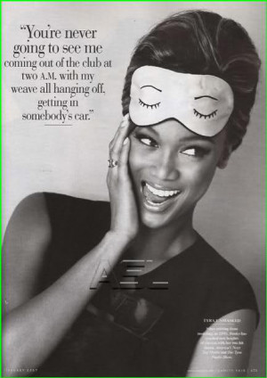 Tyra Banks poses for the upcoming issue of