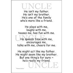 Quotes About Uncles | Uncle Scrapbook Stickers | Quotes & Stickers for ...