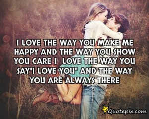 love me the way i am and i promise to love you just the way you are