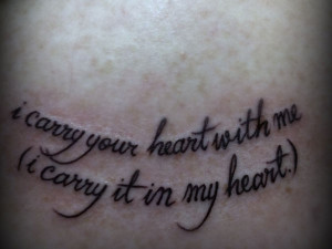 Heart Quote Tattoo